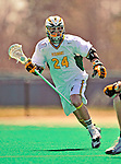 19 April 2009: University of Vermont Catamount Midfielder Parker Bunnell, a Sophomore from San Diego, CA, in action against the University at Albany Great Dames on Moulton Winder Field in Burlington, Vermont. The Cats fell to the Danes 9-6 in Vermont's last home game of the 2009 season. Mandatory Photo Credit: Ed Wolfstein Photo