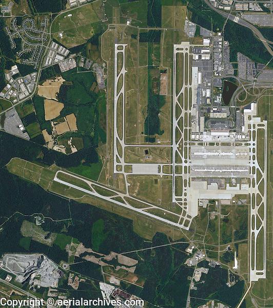 aerial photo map of Washington Dulles International Airport, Virginia
