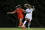 24 September 2015: North Carolina's Alexa Newfield (88) and Syracuse's Erin Simon (3). The University of North Carolina Tar Heels hosted the Syracuse University Orange at Fetzer Field in Chapel Hill, NC in a 2015 NCAA Division I Women's Soccer game. UNC won the game 3-1.