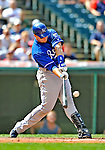 14 September 2008: Kansas City Royals' first baseman Ryan Shealy hits a solo home run in the second inning against the Cleveland Indians at Progressive Field in Cleveland, Ohio. The Royal defeated the Indians 13-3 to take the 4-game series three games to one...Mandatory Photo Credit: Ed Wolfstein Photo