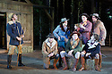 London, UK. 20.07.2015. Regent's Parks Open Air Theatre presents SEVEN BRIDES FOR SEVEN BROTHERS, directed by Rachel Kavanaugh. Picture shows: Alex Gaumond (Adam), Bob Harms (Ephraim), Leon Cooke (Daniel), Adam Rhys-Charles )Frank), Ed White (Caleb), Sam O'Rourke (Gideon), James Leece (Benjamin). Photograph © Jane Hobson.