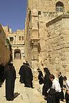 Israel, Jerusalem, Greek Orthodox procession by Church of the Holy Sepulchre