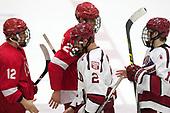 Connor Murphy (Cornell - 12), Alec McCrea (Cornell - 29), Tyler Moy (Harvard - 2), Ty Pelton-Byce (Harvard - 11) - The Harvard University Crimson defeated the visiting Cornell University Big Red on Saturday, November 5, 2016, at the Bright-Landry Hockey Center in Boston, Massachusetts.