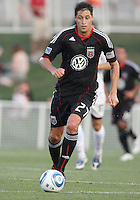 Branko Boskovic #27 of D.C. United during a US Open Cup match against the Harrisburg City Islanders at the Maryland Soccerplex on July 21 2010, in Boyds, Maryland. United won 2-0.