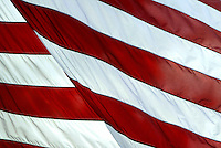 Jun 14, 2004; Washington DC, Washington, USA; Flag day in Washington. American Flags are at half mast due to the recent passing of former president Ronald Reagan. American Flag Red and White back light in the sunshine.