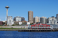 Waterfront, Seattle, Washington State, USA, skyscrapers, skyline, Space Needle, waterfront, 200809060963..Copyright Image from Victor Patterson, 54 Dorchester Park, Belfast, N Ireland, BT9 6RJ...Tel: +44 28 9066 1296.Mob: +44 7802 353836.Email: victorpatterson@mac.com..IMPORTANT: Go to www.victorpatterson.com and click on Terms & Conditions