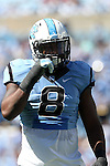 04 October 2014: UNC's Norkeithus Otis. The University of North Carolina Tar Heels hosted the Virginia Tech Hokies at Kenan Memorial Stadium in Chapel Hill, North Carolina in a 2014 NCAA Division I College Football game. Virginia Tech won the game 34-17.