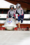 18 November 2005: Alevtina Kovalenko pilots Russia 2 to a 23rd place finish at the 2005 FIBT AIT World Cup Women's Bobsleigh Tour at the Verizon Sports Complex, in Lake Placid, NY. Mandatory Photo Credit: Ed Wolfstein.
