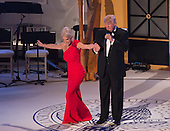 President-elect of The United States Donald J. Trump has his campaign manager Kellyanne Conway take a bow at the &quot;Candlelight&quot; dinner to thank donors in Washington, DC, January 19, 2017. <br /> Credit: Chris Kleponis / Pool via CNP