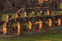 Arched colonades stand alone among the ruins of the Jesuit mission at Trinidad de Paraná (Parana with acute accent on final a), Paraguay. Scores of Jesuit missions in the area where Paraguay, Argentina and Brazil meet were built in the 17th century and abandoned when the Jesuits were expelled in the 18th century. Ruins of some of these missions still haunt hilltops in the region. (Kevin Moloney for the New York Times)