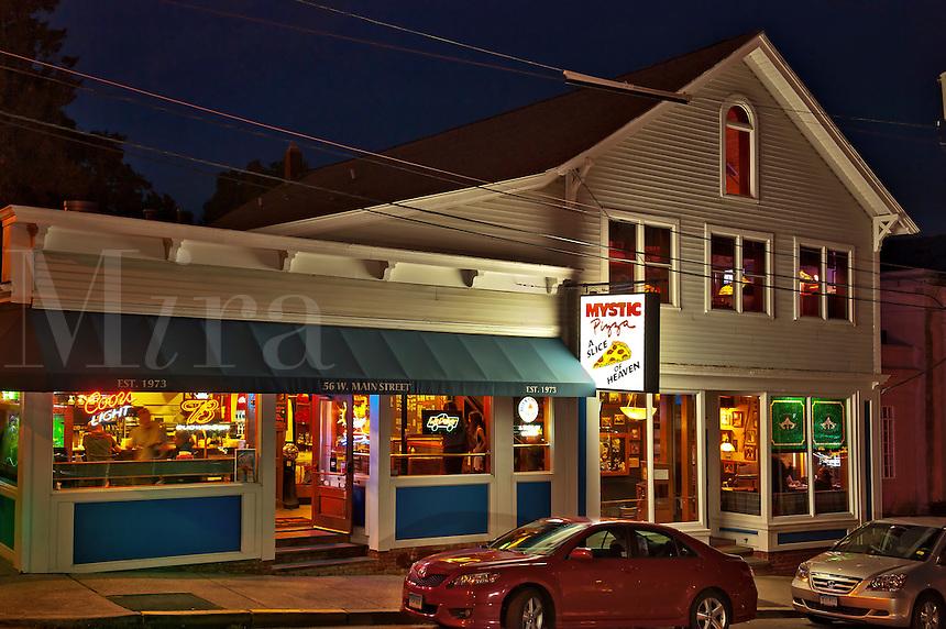 Mystic Pizza shop, Mystic, Connecticut, CT, USA