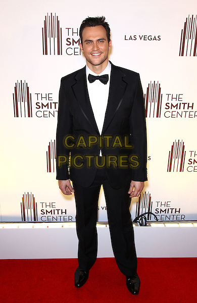 Cheyenne Jackson.Grand opening of The Smith Center for the Performing Arts, Las Vegas, Las Vegas, Nevada, USA, .10th March 2012..full length black suit tuxedo tux bow tie .CAP/ADM/MJT.© MJT/AdMedia/Capital Pictures.