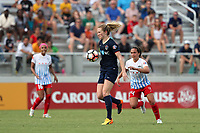 Cary, North Carolina  - Sunday May 21, 2017: Samantha Mewis during a regular season National Women's Soccer League (NWSL) match between the North Carolina Courage and the Chicago Red Stars at Sahlen's Stadium at WakeMed Soccer Park. Chicago won the game 3-1.