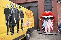 NEW YORK, NY-October 27:  On November 12 The Rolling Stones are unlocking their treasure trove of history in Exhibitionism – the largest touring experience of its kind ever to be staged.   The vast 17,000ft2 exhibit will make its U.S. debut in New York City  at Industria in the West Village where it will run through March 12.  Tickets on sale now at the box office or StonesExhibitionism.com of Visual Arts  in New York.October 27, 2016. Credit:RW/MediaPunch