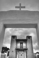 San Geronimo Church - Taos - New Mexico (BW)<br />