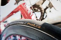 Team Katusha tire choice #28mm<br /> <br /> 115th Paris-Roubaix 2017 (1.UWT)<br /> One Day Race: Compi&egrave;gne &rsaquo; Roubaix (257km)