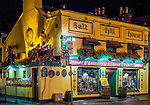 O'Connor's Pub, in the Salthill section of Galway, Ireland, seen at night