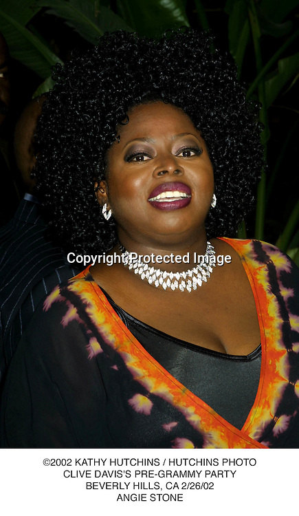 ©2002 KATHY HUTCHINS / HUTCHINS PHOTO.CLIVE DAVIS'S PRE-GRAMMY PARTY.BEVERLY HILLS, CA 2/26/02.ANGIE STONE