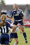 18 June 2004: Christie Welsh of the New York Power during the 2004 WUSA Festival at the National Soccer Center in Blaine, Minnesota.