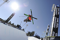Aspen, Co - 28, JANUARY 2012 - Buttermilk Mountain: Tucker Perkins competing in Men's Ski SuperPipe Final during Winter X Games Aspen 2012..(Photo by Allen Kee / ESPN Images)..- RAW FILE AVAILABLE -