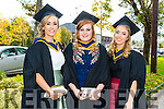 Bachelor of Science Agricultural Science Ciara Fitzgerald, Annette Creagh, Ciara Sheehan at the Institute of Technology Tralee Autumn Conferring of Awards Ceremony at the Brandon Hotel on Friday