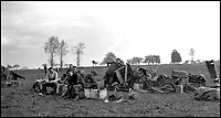 BNPS.co.uk (01202 558833)<br /> Pic: PoppylandPublishing/BNPS<br /> <br /> A photograph taken by Sergeant Stanley on Easter Sunday that he labelled 'A hopeless dawn'<br /> <br /> Left to gather dust in a darkened attic for decades, they are the diaries and secret photos documenting the hell and horrors of the battlefields of the First World War.<br /> <br /> It wasn't until Heather Brodie had a clear out that the unknown but remarkable archive kept by her late father, Sergeant Horace Reginald Stanley, came to light.<br /> <br /> His emotive diary and remarkable images taken with a camera he smuggled into the trenches paint a harrowing picture of life on the front line at Ypres and The Somme.<br /> <br /> He wrote of how he witnessed comrades next to killed by German shelling and described the hopelessness and terror one felt as the men waited for their turn to be hit.<br /> <br /> His writings were even more poignant as his elder brother Frederick was killed after his dugout suffered a direct hit near Arras.
