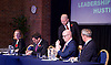 UKIP <br /> Leadership hustings <br /> at the Emanuel Centre, London, Great Britain <br /> 1st November 2016 <br /> <br /> the first leadership hustings before the election on 28th November 2016 <br /> <br /> delegates write questions pulled out of the basket for candidates to answer <br /> <br /> Suzanne Evans <br /> <br /> Paul Nuttall <br /> <br /> John Rees-Evans<br /> <br /> Peter Whittle <br /> <br /> <br /> <br /> Photograph by Elliott Franks <br /> Image licensed to Elliott Franks Photography Services