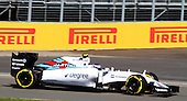 77 Valterri Bottas (Finland) F1 Williams action shot during practice 3 at the Grand Prix of Canada 2015 at circuit Gilles-Villeneuve