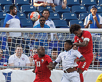 Foxborough, Massachusetts - July 10, 2015: In 2015 CONCACAF Gold Cup Group A match, Panama (red) tied Honduras (white), 1-1, at Gillette Stadium.