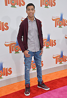 LOS ANGELES, CA. October 23, 2016: Actor Marcus Scribner at the Los Angeles premiere of &quot;Trolls&quot; at the Regency Village Theatre, Westwood.<br /> Picture: Paul Smith/Featureflash/SilverHub 0208 004 5359/ 07711 972644 Editors@silverhubmedia.com