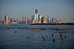 General view of Lower Manhattan and the Hudson river's water in Hoboken, New Jersey, United States. 18/03/2012.  New York City is already under a Federal Order to build a $600 million plant to filter the water from reservoirs east of the Hudson River. Photo by Eduardo Munoz Alvarez / VIEWpress.