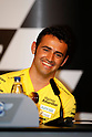 April 29, 2010 - Jerez, Spain -  Hector Barbera of Spain and Team Aspar smiles during the press conference pre-event at Circuito de Jerez on April 29, 2010 in Jerez de la Frontera, Spain. (Photo Andrew Northcott/Nippon News)