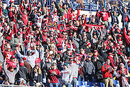 Annapolis, MD - December 3, 2016: Temple Owls fans celebrate during game between Temple and Navy at  Navy-Marine Corps Memorial Stadium in Annapolis, MD.   (Photo by Elliott Brown/Media Images International)