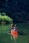 Couple canoeing on Lake Clementine
