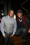All Hip Hop.com's Chuck Creekmur and Sway Calloway at 135th Street Agency Holiday Party Featuring the Beautiful Textures 2014 Upfront! And Special Performance by Atlantic Records' Sevyn Streeter Hosted by Angela Yee, Angela Simmons and Sway Calloway Held at Arena, NY