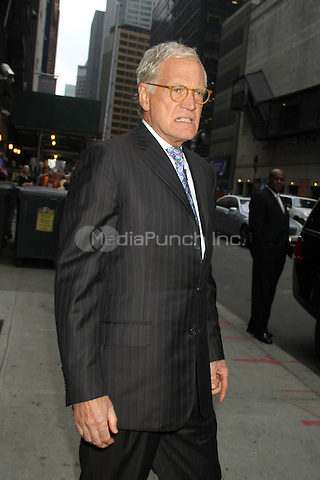 NEW YORK, NY - OCTOBER 4: David Letterman at the Ed Sullivan Theater before taping Late Show with David Letterman in New York City. October 4, 2012. ©RW/MediaPunch Inc.