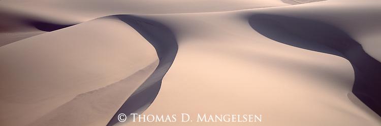Sand dunes on the Skeleton Coast of Namibia.