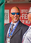 7 April 2016: Washington Nationals Vice President of International Operations Johnny DiPuglia smiles in the dugout prior to their Home Opening Game against the Miami Marlins at Nationals Park in Washington, DC. The Marlins defeated the Nationals 6-4 in their first meeting of the 2016 MLB season. Mandatory Credit: Ed Wolfstein Photo *** RAW (NEF) Image File Available ***