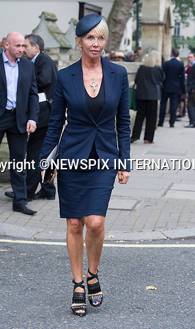 11.09.2014;London, England: TRUDIE STYLER <br /> attends the Memorial Service for Mark Shand at St Paul's Knightsbridge,London.<br /> Mark, Camilla's brother died in New York earlier this year.<br /> Mandatory Photo Credit: &copy;Francis Dias/NEWSPIX INTERNATIONAL<br /> <br /> **ALL FEES PAYABLE TO: &quot;NEWSPIX INTERNATIONAL&quot;**<br /> <br /> PHOTO CREDIT MANDATORY!!: NEWSPIX INTERNATIONAL(Failure to credit will incur a surcharge of 100% of reproduction fees)<br /> <br /> IMMEDIATE CONFIRMATION OF USAGE REQUIRED:<br /> Newspix International, 31 Chinnery Hill, Bishop's Stortford, ENGLAND CM23 3PS<br /> Tel:+441279 324672  ; Fax: +441279656877<br /> Mobile:  0777568 1153<br /> e-mail: info@newspixinternational.co.uk