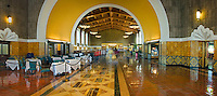 Union Station, Tiled, Floor, Reflections, Beautiful, Panorama, Los Angeles, CA High dynamic range imaging (HDRI or HDR)