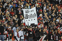 D.C. United fans. D.C. United defeated The Houston Dynamo 3-2 at RFK Stadium, Saturday April 28, 2012.