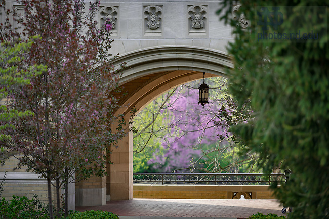April 21, 2017; Lyons Hall arch Spring 2017 (Photo by Matt Cashore/University of Notre Dame)