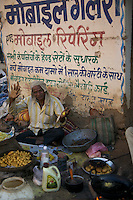 Food Vendor in Village in Madhya Pradesh, India
