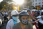 Motorbikes in Ho Chi Minh City, Vietnam...Kevin German / LUCEO
