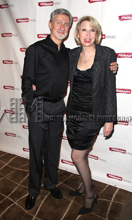 David Garrison, Julie Halston.attending the Opening Night Party for the Primary Stages Production of 'Olive and the Bitter Herbs' in New York City. ...
