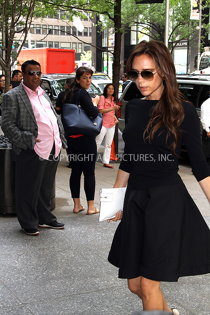 WWW.ACEPIXS.COM....May 10 2013, New York City....Victoria Beckham arrives at a Midtown Manhattan hotel on May 10 2013 in New York City......By Line: Zelig Shaul/ACE Pictures......ACE Pictures, Inc...tel: 646 769 0430..Email: info@acepixs.com..www.acepixs.com