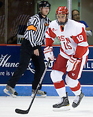 Justin Courtnall (BU - 19) - The Boston University Terriers defeated the visiting University of Toronto Varsity Blues 9-3 on Saturday, October 2, 2010, at Agganis Arena in Boston, MA.