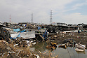 (March 31st, 2011)  Almost three weeks after the tsunami the city of Sendai, with a population of over a million, struggles with the after effects.  Especially hard hit was the low-lying port area of Tagajo.  Much of the infrastructure around the harbor that could help process the mountains of garbage was also destroyed.   .