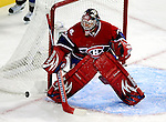 15 October 2009: Montreal Canadiens' goaltender Carey Price makes a second period save against the Colorado Avalanche at the Bell Centre in Montreal, Quebec, Canada. The Avalanche defeated the Canadiens 3-2 in the home opening game for the Habs. Mandatory Credit: Ed Wolfstein Photo
