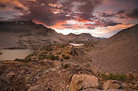 Sunrise and a mountain stream, Bishop Pass, Sierra Nevada CA